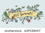 pretty hand drawn banner with a ... | Shutterstock .eps vector #639538447