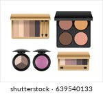 eye shadow makeup product set ... | Shutterstock .eps vector #639540133