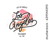 los angeles  aged vintage style ...   Shutterstock .eps vector #639544393