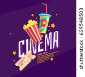colorful poster cinema with...   Shutterstock .eps vector #639548503