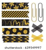 set of beautiful washi tape... | Shutterstock .eps vector #639549997
