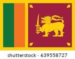 vector sri lanka flag  sri... | Shutterstock .eps vector #639558727
