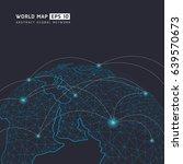 world map point  line ... | Shutterstock .eps vector #639570673
