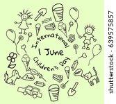 international children's day  1 ... | Shutterstock .eps vector #639575857