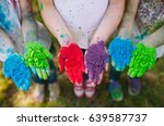hands   palms of young people...   Shutterstock . vector #639587737
