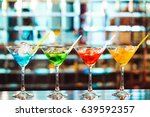 multicolored cocktails at the... | Shutterstock . vector #639592357