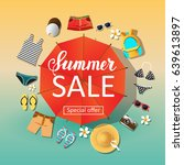 vector summer sale. special... | Shutterstock .eps vector #639613897