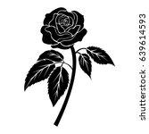 Black Rose Illustration  Tatto...