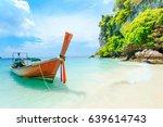 longtale boat on the white... | Shutterstock . vector #639614743