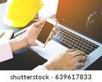 builder contractor engineer is... | Shutterstock . vector #639617833