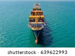 container ship in export and... | Shutterstock . vector #639622993