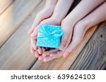child and mother's hands... | Shutterstock . vector #639624103