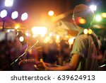 guitarist on stage for... | Shutterstock . vector #639624913
