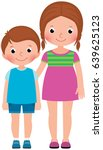 children brother and sister... | Shutterstock .eps vector #639625123