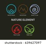 nature elements logo. water ... | Shutterstock .eps vector #639627097