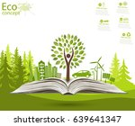 environmentally friendly world. ... | Shutterstock .eps vector #639641347