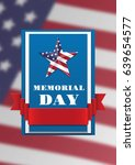 memorial day. banner with red... | Shutterstock .eps vector #639654577