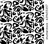 pattern with abstract motives... | Shutterstock .eps vector #639655357