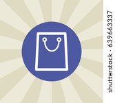 shopping bag icon. sign design. ...