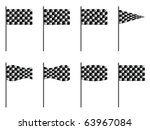 checkered 3d flags against... | Shutterstock . vector #63967084