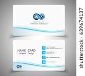 business card design set.... | Shutterstock .eps vector #639674137