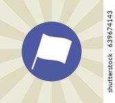 flag icon. sign design.... | Shutterstock . vector #639674143
