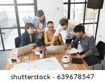 group of five creative worker... | Shutterstock . vector #639678547