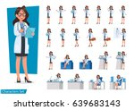 set of doctor character design. | Shutterstock .eps vector #639683143