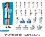 Set of Doctor character design.   Shutterstock vector #639683143