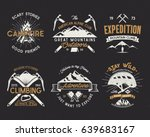 set of mountain climbing labels ... | Shutterstock . vector #639683167