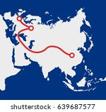 the new silk road   connection... | Shutterstock .eps vector #639687577