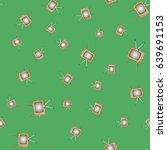 retro tv seamless pattern on...   Shutterstock . vector #639691153