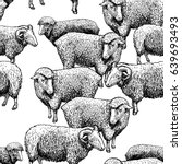 Seamless Pattern With Sheep....