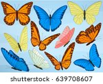 big collection of colorful... | Shutterstock .eps vector #639708607