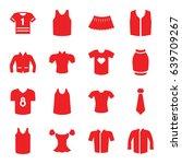 shirt icons set. set of 16... | Shutterstock .eps vector #639709267