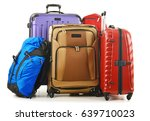 luggage consisting of large... | Shutterstock . vector #639710023