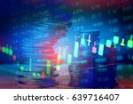 financial data on a monitor as... | Shutterstock . vector #639716407