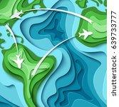 paper planes flying across...   Shutterstock .eps vector #639733777