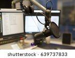 studio microphone in front of... | Shutterstock . vector #639737833