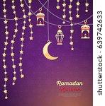 ramadan kareem concept banner...   Shutterstock .eps vector #639742633