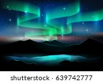 aurora blue sky and a lot of... | Shutterstock .eps vector #639742777