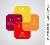 infographics step by step.... | Shutterstock .eps vector #639742933