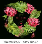 vector botanical wreath with... | Shutterstock .eps vector #639743467
