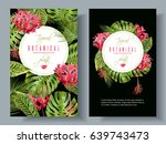 vector botanical vertical... | Shutterstock .eps vector #639743473