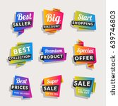 set of sale banners. shopping... | Shutterstock .eps vector #639746803