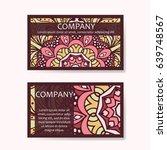 set of business cards. vintage... | Shutterstock .eps vector #639748567