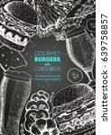 beer and burgers vector...   Shutterstock .eps vector #639758857