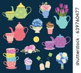Vector Illustration Of Tea...