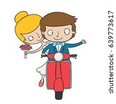 happy and funny couple design.... | Shutterstock .eps vector #639773617