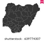 high detailed   black map of... | Shutterstock .eps vector #639774307